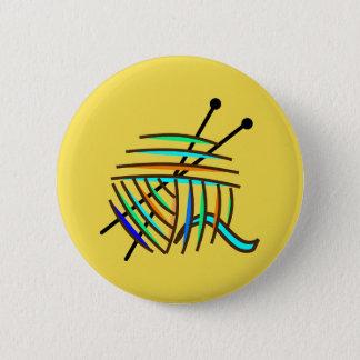 Bóton Redondo 5.08cm Crachá amarelo dos knitters