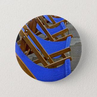 Bóton Redondo 5.08cm Crachá azul do botão da cadeira de plataforma