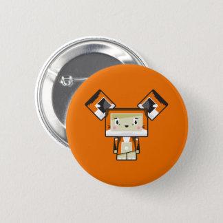 Bóton Redondo 5.08cm Crachá bonito do botão do Fox de Blockimals dos