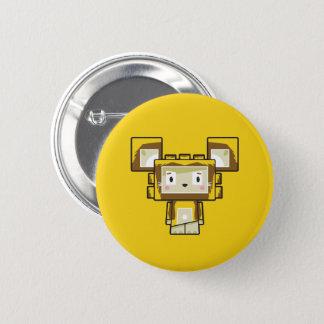 Bóton Redondo 5.08cm Crachá bonito do botão do leão de Blockimals dos