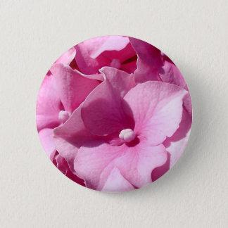 Bóton Redondo 5.08cm Crachá/botão cor-de-rosa do Hydrangea