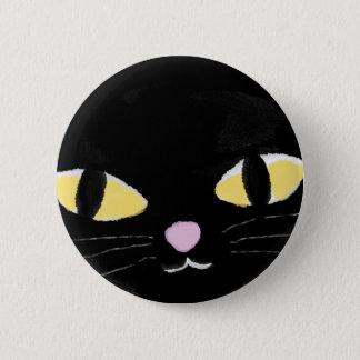 Bóton Redondo 5.08cm Crachá com olhos de gato