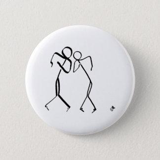 Bóton Redondo 5.08cm Crachá com os dois dançarinos do salto temporal