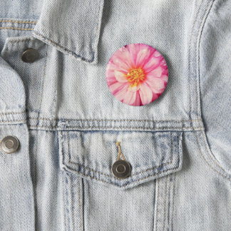 Bóton Redondo 5.08cm Crachá cor-de-rosa da flor da dália