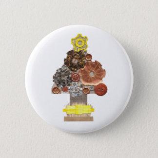 Bóton Redondo 5.08cm Crachá da árvore de Natal de Steampunk