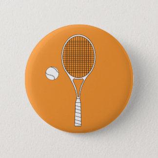 Bóton Redondo 5.08cm Crachá da raquete de tênis e do botão da bola