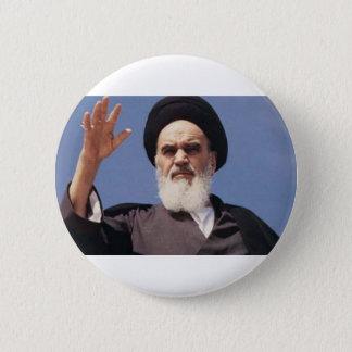 Bóton Redondo 5.08cm Crachá de Khomeini da aiatola