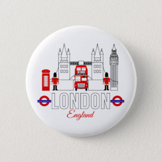 Bóton Redondo 5.08cm Crachá de Londres, Inglaterra