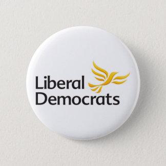 Bóton Redondo 5.08cm Crachá do botão de Democratas liberais