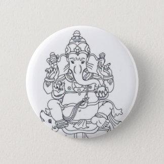Bóton Redondo 5.08cm Crachá do botão de Ganesh