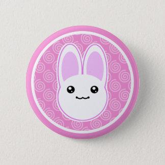 Bóton Redondo 5.08cm Crachá do botão do coelho de coelho de Kawaii