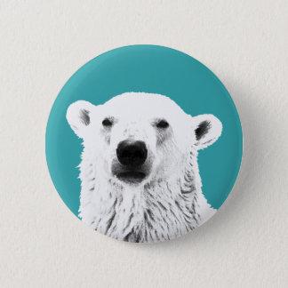 Bóton Redondo 5.08cm Crachá do botão do urso polar