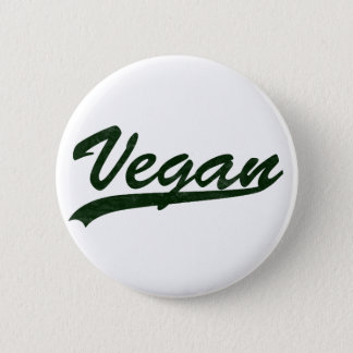 Bóton Redondo 5.08cm Crachá do logotipo do Vegan