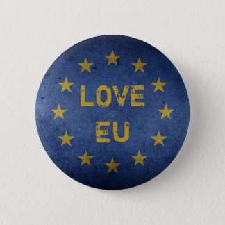 Bóton Redondo 5.08cm Crachá do Pin da UE anti Brexit do amor