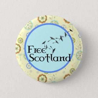 Bóton Redondo 5.08cm Crachá escocês do dente-de-leão da independência