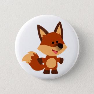 Bóton Redondo 5.08cm Crachá inocente bonito do botão do Fox dos