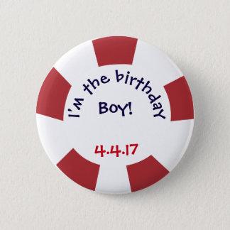 Bóton Redondo 5.08cm Crachá náutico do partido do botão da festa de