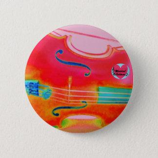 Bóton Redondo 5.08cm Crachá redondo do Pin do violoncelo vermelho