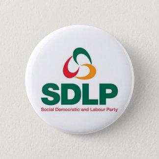Bóton Redondo 5.08cm Crachá social do botão do Partido Trabalhista