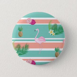 Bóton Redondo 5.08cm Crachá tropical do botão do flamingo