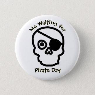 Bóton Redondo 5.08cm Crânio de espera do dia do pirata
