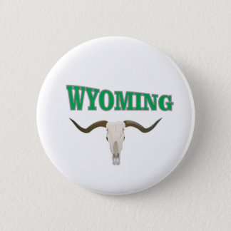 Bóton Redondo 5.08cm Crânio de Wyoming