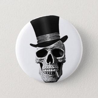 Bóton Redondo 5.08cm Crânio do chapéu alto