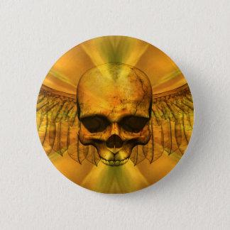 Bóton Redondo 5.08cm Crânio voado explosão do ouro