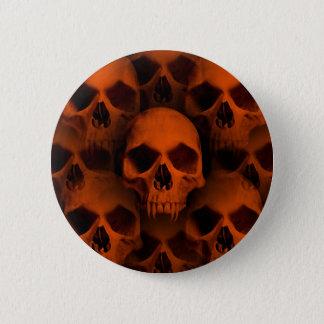 Bóton Redondo 5.08cm Crânios do horror do Dia das Bruxas