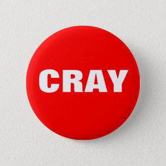 Bóton Redondo 5.08cm Cray em vermelho e em branco