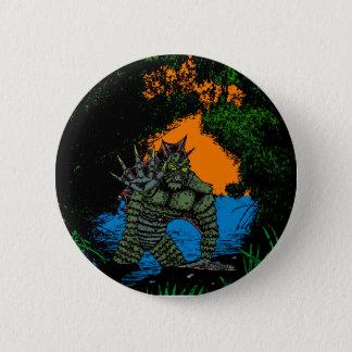Bóton Redondo 5.08cm Criatura da variação preta do botão da lagoa