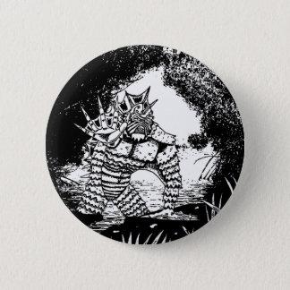 Bóton Redondo 5.08cm Criatura do botão preto da lagoa