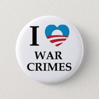 Bóton Redondo 5.08cm Crimes de guerra de Obama