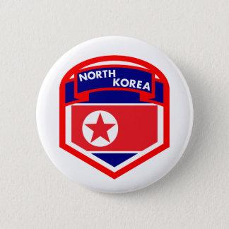 Bóton Redondo 5.08cm Crista da bandeira da Coreia do Norte