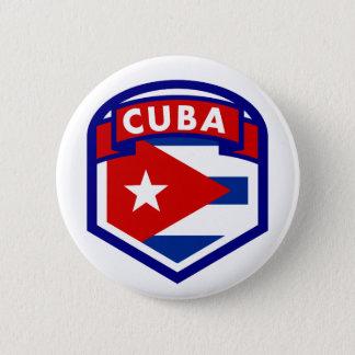 Bóton Redondo 5.08cm Crista da bandeira de Cuba