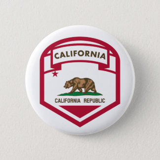 Bóton Redondo 5.08cm Crista da bandeira do estado de Califórnia