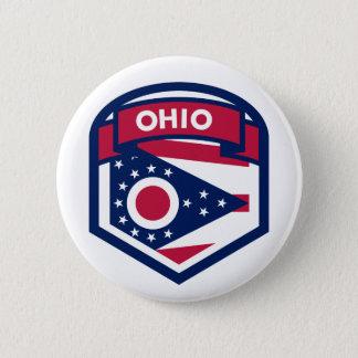 Bóton Redondo 5.08cm Crista da bandeira do estado de Ohio dada forma