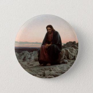 Bóton Redondo 5.08cm Cristo na região selvagem - belas artes de Ivan