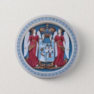Bóton Redondo 5.08cm cristo ortodoxo do estuque do símbolo da religião