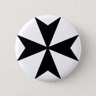 Bóton Redondo 5.08cm Cruz maltesa