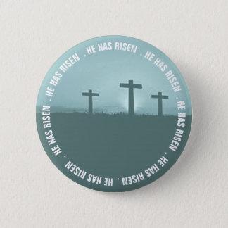 Bóton Redondo 5.08cm Cruzes de Jesus três tem crachás aumentados