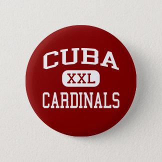 Bóton Redondo 5.08cm Cuba - cardeais - mais velho - Cuba Illinois