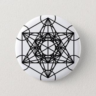 Bóton Redondo 5.08cm Cubo de Metatrons