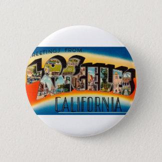 Bóton Redondo 5.08cm Cumprimentos de Los Angeles