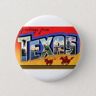 Bóton Redondo 5.08cm Cumprimentos de Texas