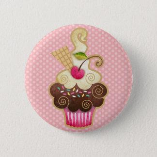 Bóton Redondo 5.08cm Cupcake deliciosa