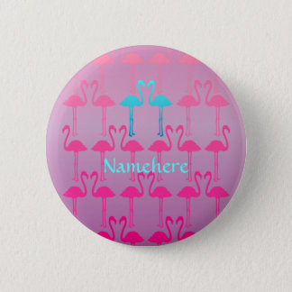 Bóton Redondo 5.08cm Customizável: Flamingo dois