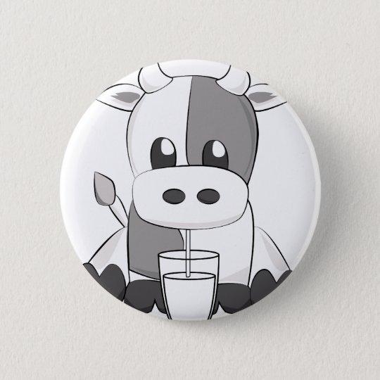 Bóton Redondo 5.08cm Cute cow - Vaquinha fofa