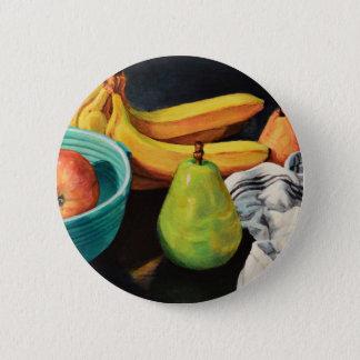 Bóton Redondo 5.08cm Da banana de Apple da pera vida ainda
