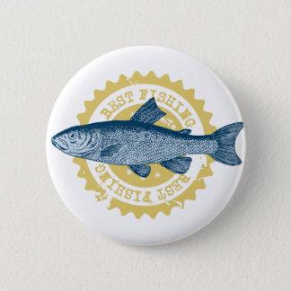 """Bóton Redondo 5.08cm Da """"logotipo da pesca da truta melhor pesca"""","""